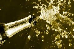 Vonken van champagne Stock Foto