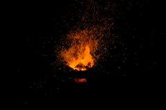 Vonken van vuur stock foto