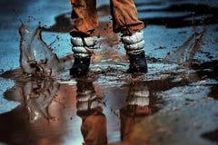 Vonken van water Stock Fotografie
