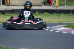 Vont la course de Karting Photo libre de droits