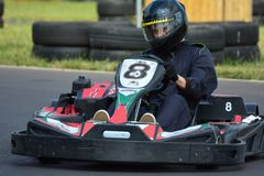 Vont la course de Karting Photographie stock libre de droits