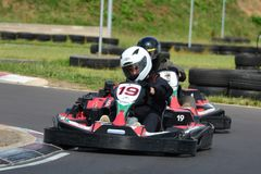 Vont la course de Karting Photographie stock