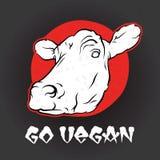 Vont la vache à vegan Images stock