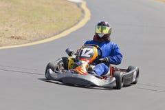 Vont le coureur #12 de kart photos libres de droits