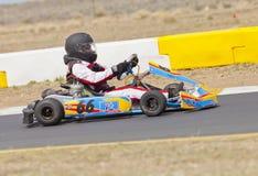 Vont le coureur #66 de kart Photo stock