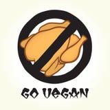 Vont le poulet de vegan Photos stock