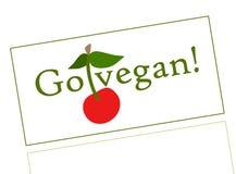 Vont le vegan ! Manger des nourritures de vegan illustration stock