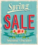 Vontage card. Spring Sale. vector illustration Stock Photo