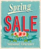 Vontage card. Spring Sale. vector illustration vector illustration