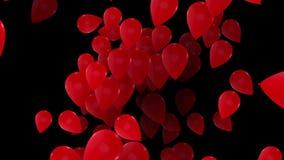 Voo abstrato, balões de giro no vermelho ilustração royalty free