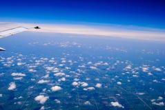 Voo acima das nuvens Imagens de Stock Royalty Free