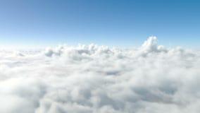 Voo acima das nuvens paradise ilustração royalty free