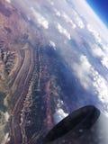 Voo acima do Peru Fotos de Stock