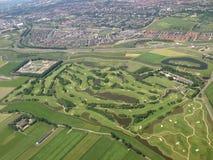Voo acima dos Países Baixos Fotografia de Stock Royalty Free