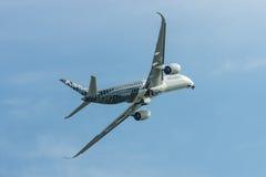 Voo Airbus A350 XWB da demonstração Imagem de Stock