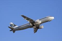 Voo alegre do feriado em meu Airbus Fotografia de Stock