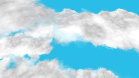 Voo através das nuvens brancas sob o céu azul Uma vista próxima das nuvens brancas ilustração royalty free