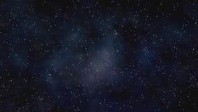 Voo através de um campo de estrela no espaço Estrela-campo infinito do cosmos ilustração stock