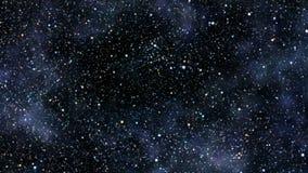 Voo através do campo de estrela ilustração do vetor