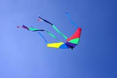 Voo colorido do papagaio no vento Fotografia de Stock Royalty Free