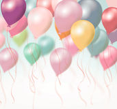 Voo colorido dos balões Imagens de Stock Royalty Free