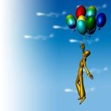 Voo com ballons Imagens de Stock Royalty Free