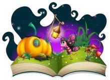 Voo da borboleta no jardim mágico Fotografia de Stock