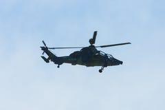 Voo da demonstração do UHT do tigre de Eurocopter do helicóptero de ataque Imagens de Stock Royalty Free