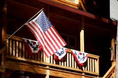 Voo das bandeiras americanas Imagem de Stock Royalty Free