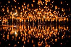 Voo das lanternas Imagem de Stock