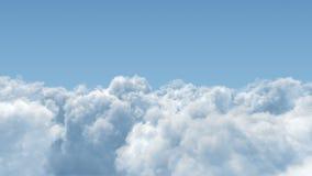 Voo das nuvens de cúmulo completamente ilustração stock