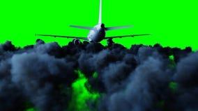 Voo de Airbus do passageiro nas nuvens conceito do curso rendição 3d Foto de Stock Royalty Free