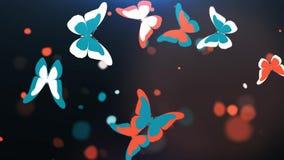 Voo de borboletas coloridas Imagens de Stock Royalty Free