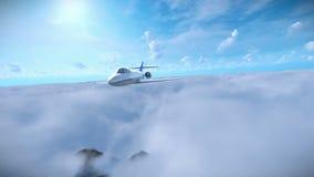 Voo de Cessna acima das nuvens ilustração stock