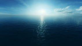 Voo de Loopable sobre o oceano ilustração royalty free