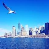 Voo de Manhattan foto de stock