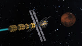 Voo de Marte Imagem de Stock
