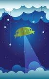 Voo de papel do UFO Fotografia de Stock Royalty Free