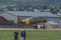 Voo dia 11 de maio de 2014 em Kjeller (airshow) Imagem de Stock Royalty Free