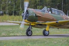 Voo dia 11 de maio de 2014 em Kjeller (airshow) Foto de Stock Royalty Free