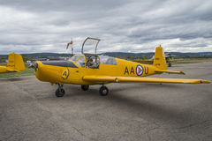 Voo dia 11 de maio de 2014 em Kjeller (airshow) Fotografia de Stock Royalty Free