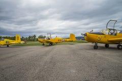 Voo dia 11 de maio de 2014 em Kjeller (airshow) Fotos de Stock Royalty Free
