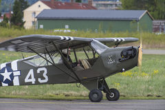 Voo dia 11 de maio de 2014 em Kjeller (airshow) Fotografia de Stock