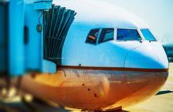 Voo do avião Imagens de Stock Royalty Free