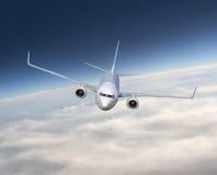 Voo do avião Fotografia de Stock