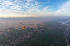 Voo do balão em Luxor, bonito fotos de stock