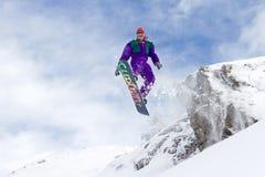 Voo do Snowboard Fotos de Stock