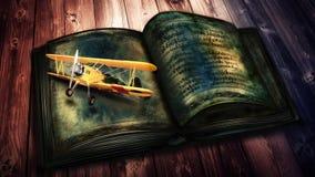 Voo dos aviões dos livros velhos Fotografia de Stock Royalty Free