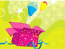 Voo dos balões ilustração royalty free