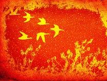 Voo dos pássaros ilustração do vetor